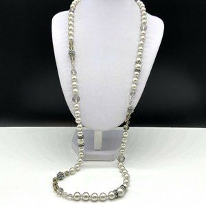 Banana Republic Faux Pearl Beaded Necklace